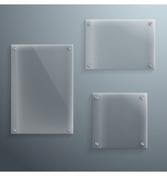 Set of Realistic Glass Frame Template vector image