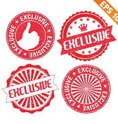 stamp sticker exclusive collection vector image