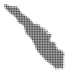 Sumatra island map halftone icon vector