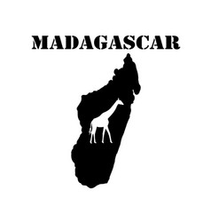 Symbol of madagascar and map vector