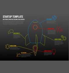 Thin line startup infographic template vector