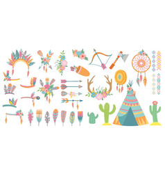 tribal elements set tribal design element vector image