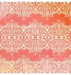 Vintage beige and pink floral seamless pattern vector