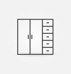Wardrobe concept icon or symbol in line vector
