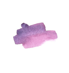watercolor brush stroke stains and blots vector image