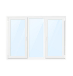 white plastic window window front view isolated vector image