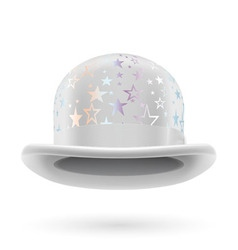 White starred bowler hat vector image