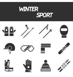 Winter sport icon set vector
