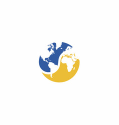 Yin yang globe logo vector