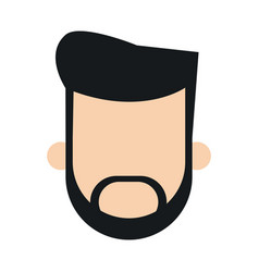 bearded man faceless people character image vector image