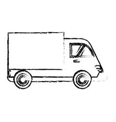 delivery truck cargo transport sketch vector image