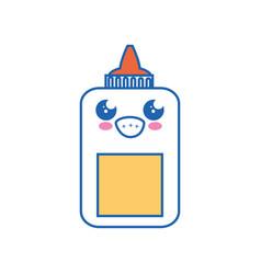 glue bottle kawaii cartoon vector image
