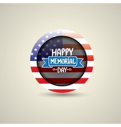 Happy Memorial Day round badge or sticker vector image