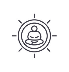 meditation pose linear icon sign symbol vector image