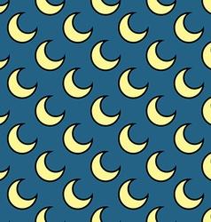 Moon seamless pattern hand drawn vector image