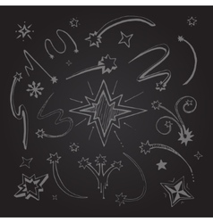 stars hand drawn vector image vector image
