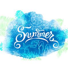 summer banner watercolor background vector image