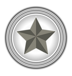 american symbol the star rings grey vector image vector image