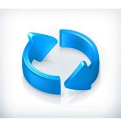 Blue cycle arrows vector image vector image
