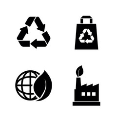 ecological simple related icons vector image