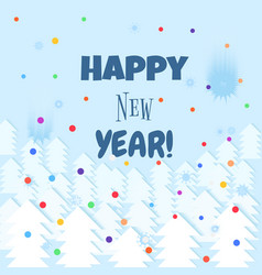 happy new year lettering text winter background vector image vector image