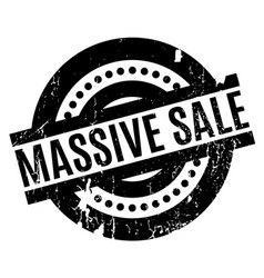 massive sale rubber stamp vector image vector image