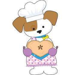 Puppy Love Pie vector image vector image