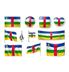 set central african republic flags banners vector image vector image