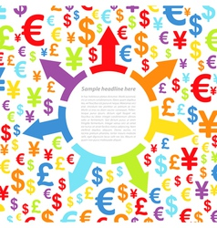 Abstract background with money vector image