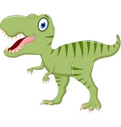 cute tyrannosaurus cartoon vector image