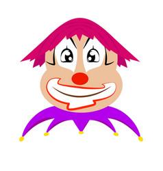 funny cute clown vector image
