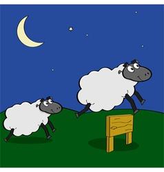 Jumping sheep vector image vector image