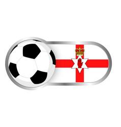 northern ireland soccer icon vector image vector image