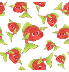 Red fish seamless vector image