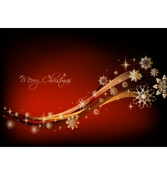 Gold snowflakes christmas Background vector image
