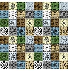 Tribal ethnic symbols background seamless pattern vector