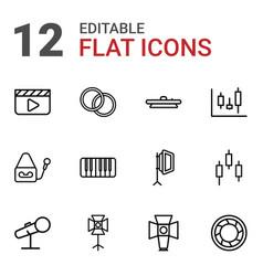 12 studio icons vector