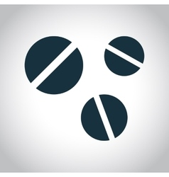3 round pills icon vector image
