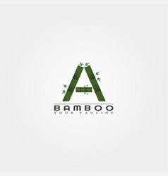 a letter bamboo logo template creative design for vector image