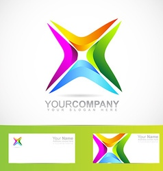 Abstract colored symbol for business and corporate vector image