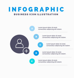 Add contact twitter solid icon infographics 5 vector