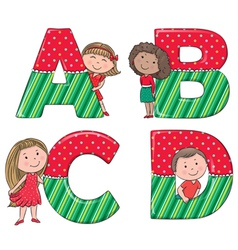 Alphabet kids ABCD vector
