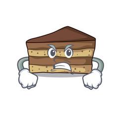 angry tiramisu mascot cartoon style vector image