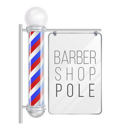 Barber shop pole good for design branding vector