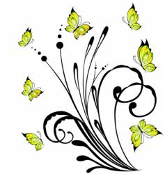 beautiful bright flowers vector image