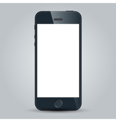 Black business mobile phone in iPhone 5s style vector image