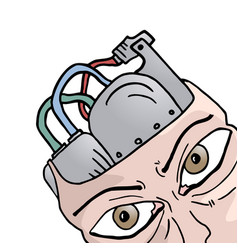 brain robot vector image