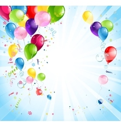 Bright holiday with balloons vector
