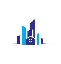 buildings real estate logo image vector image