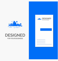 Business logo for nature hill landscape mountain vector
